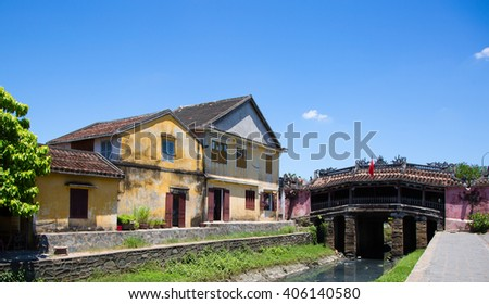 Japanese covered bridge in Hoi An, Vietnam