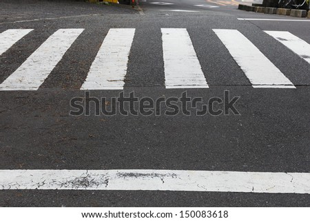 Japanese crosswalk   - stock photo