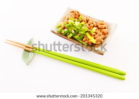 Japanese cuisine soy beans natto - stock photo