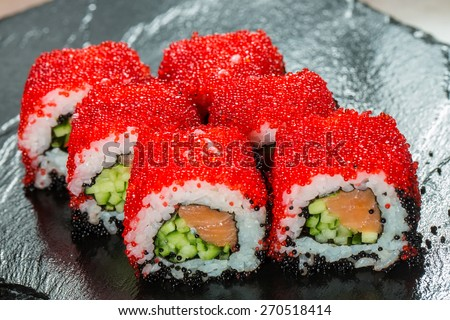 Fish roe stock photos images pictures shutterstock for Fish eggs on sushi