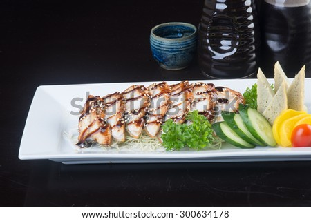 japanese cuisine. unagi or eel on background