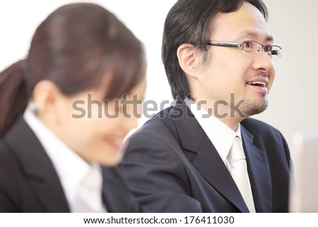 Japanese employees in a Conference room