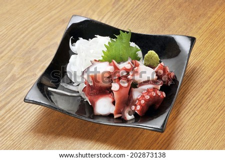 Japanese food, freshness octopus for sushi and sashimi - stock photo