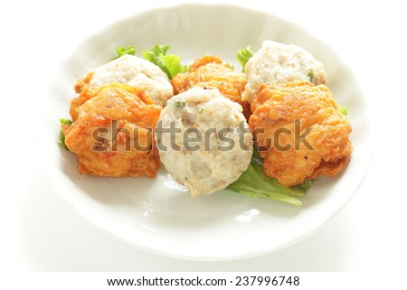 Japanese food ingredient for Oden, Fish cake - stock photo