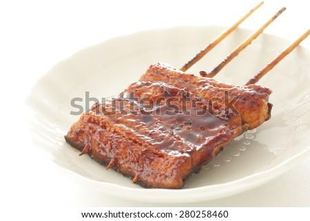 Japanese food, Kabayaki Unagi Roasted Eel - stock photo