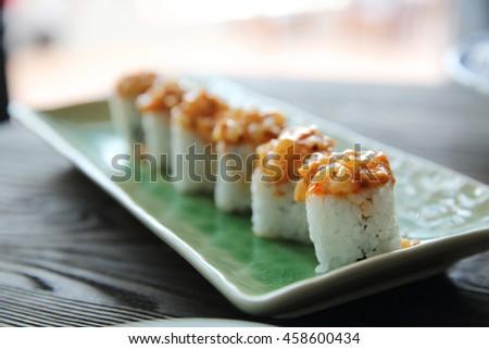 Japanese food maki sushi - stock photo