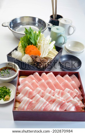 Japanese Food-Shabu-shabu Set-3 - stock photo