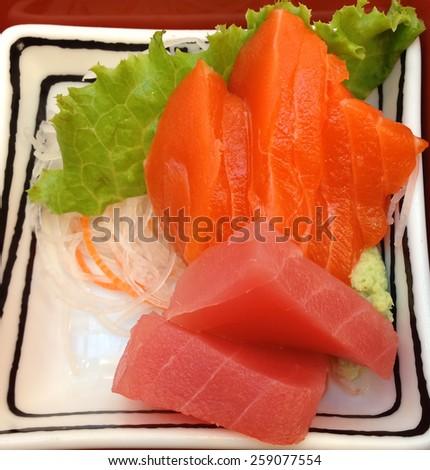 Japanese food Sushi - stock photo