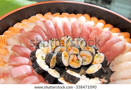 Japanese food - Sushi - stock photo