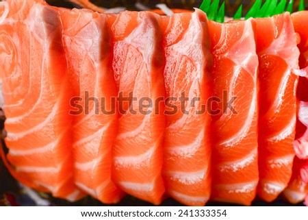 japanese food sushi salmon fish - stock photo