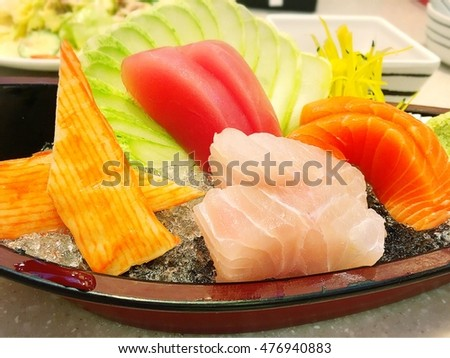 Japanese food sushi sashimi