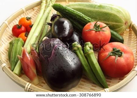 Japanese fresh vegetable/Japanese vegetables - stock photo