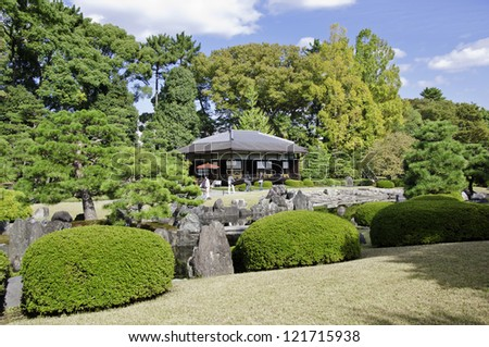 Japanese Garden at nijo castle