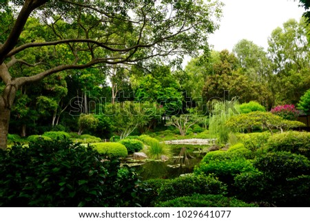 Japanese Garden Design With Water Reflexions
