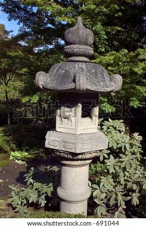 Japanese Garden Temple - stock photo