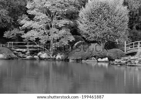 japanese gardens rendered in black and white toowoomba queensland