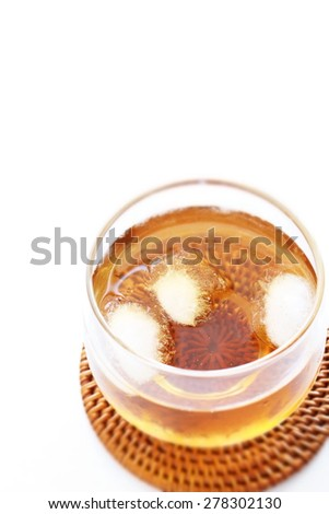 Japanese iced barley tea for summer image - stock photo