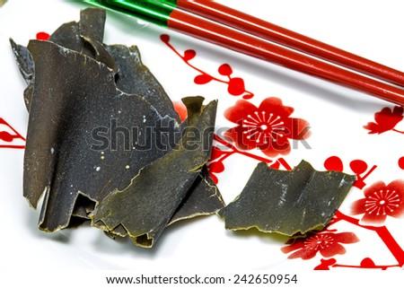 Japanese kombu for Dashi soup  - stock photo