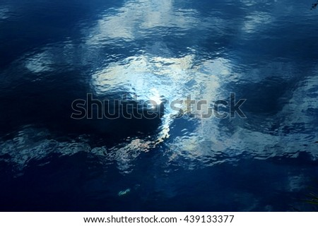 japanese landscape/The image which a cloud drew on the surface of the water