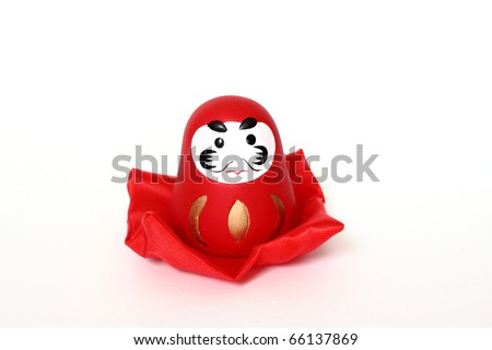 Japanese lucky doll - stock photo
