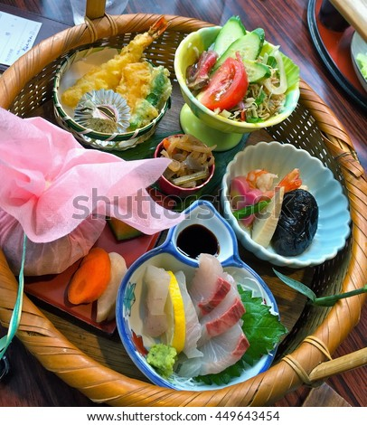Japanese meal set for women - stock photo