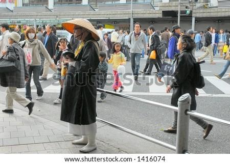 Japanese monk - stock photo