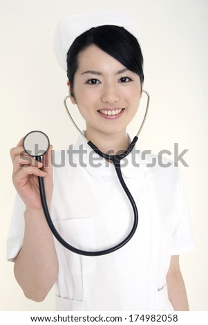 Japanese Nurse with a stethoscope