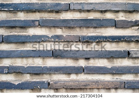 Japanese old plaster wall - stock photo