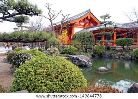 Japanese Old Temple - stock photo