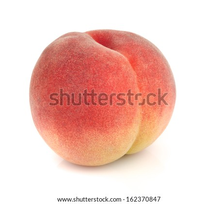 Japanese peach isolated on white