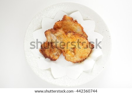 Japanese pork cutlet - stock photo