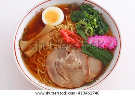 Japanese ramen noodles - stock photo