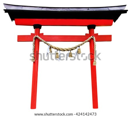 Japanese Red Arch Torii Isolation