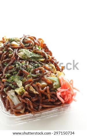 Japanese regional food, Otayakisoba - stock photo