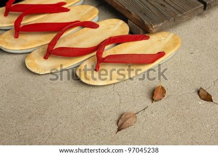 Japanese shoes - stock photo