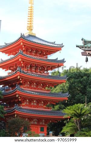 Japanese shrine - stock photo