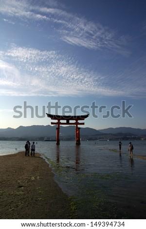 Japanese shrine as a symbole of hiroshima, Japan - stock photo