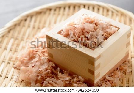 Japanese small pieces of bonito - stock photo