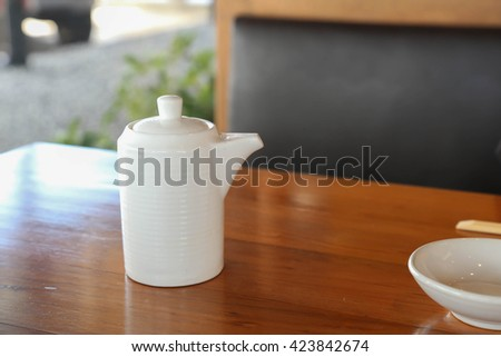 Japanese soy sauce in a bottle - stock photo