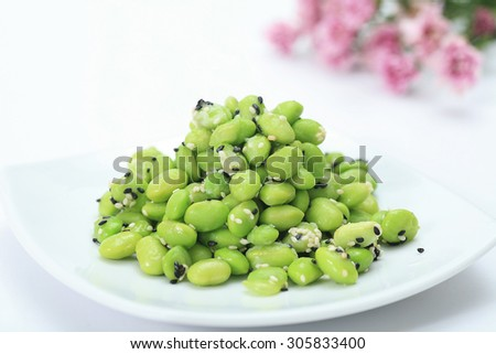 Japanese soybean with sesame oil - stock photo