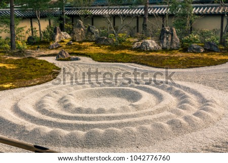 Japanese stone garden kyoto japan stock photo 1042776760 shutterstock japanese stone garden in kyoto japan workwithnaturefo