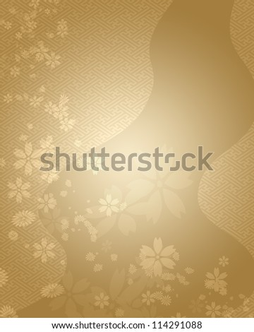 Japanese style background - stock photo