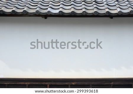 japanese style wall, ancient style - stock photo