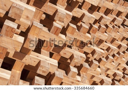 Japanese style wooden wall decoration - stock photo