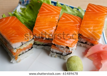 Japanese Sushi dishes. - stock photo
