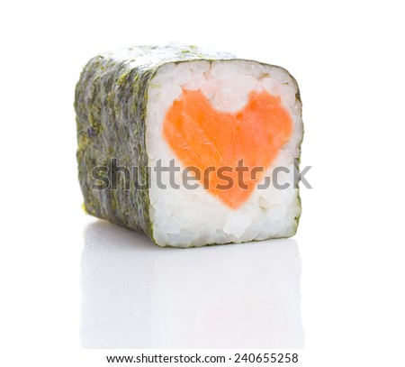 japanese sushi isolated - stock photo