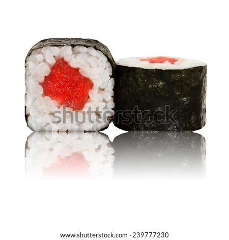 Japanese sushi roll  - stock photo
