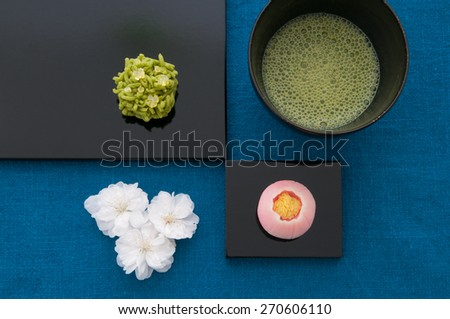 Japanese sweet - stock photo