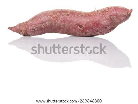 Japanese sweet potato over white background - stock photo