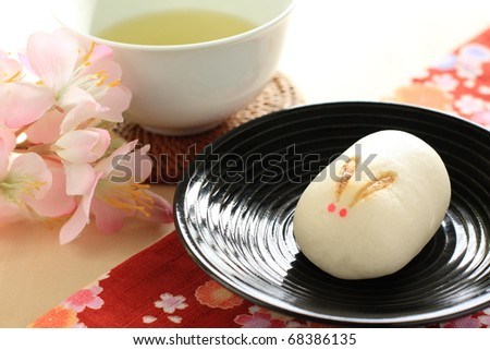 Japanese sweet rabbit steamed bun - stock photo